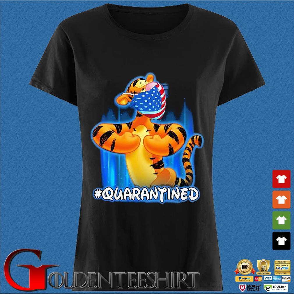 Tiger Quarantined American Flag Mask Disney Shirt Den Ladies