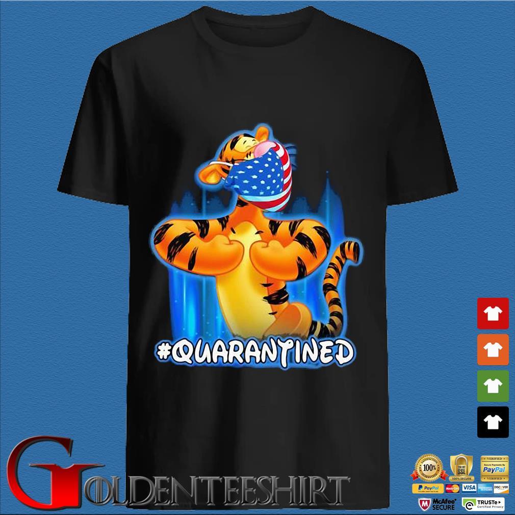 Tiger Quarantined American Flag Mask Disney Shirt