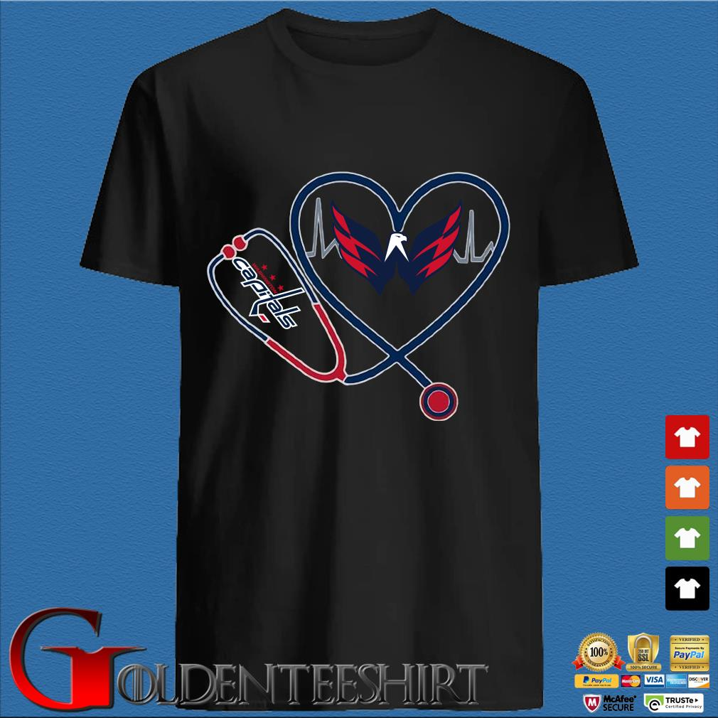 Washington Capitals Nurse Stethoscope Love Heartbeat Shirt