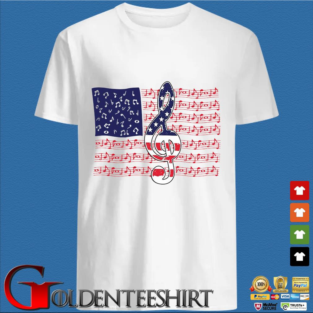 4th Of July Independence Music Note American Flag Shirt