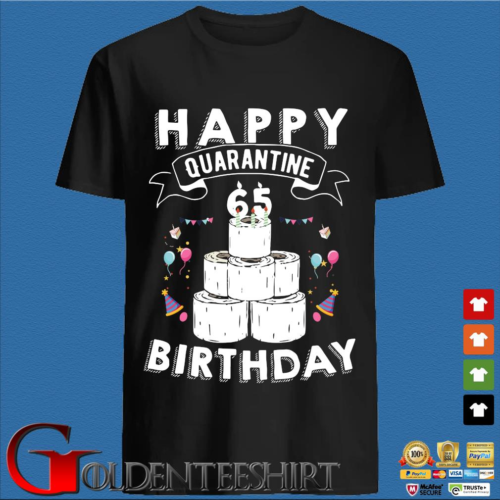 65th Birthday Social Distancing Shirt – Happy Quarantine Birthday 65 Years Old T-Shirt