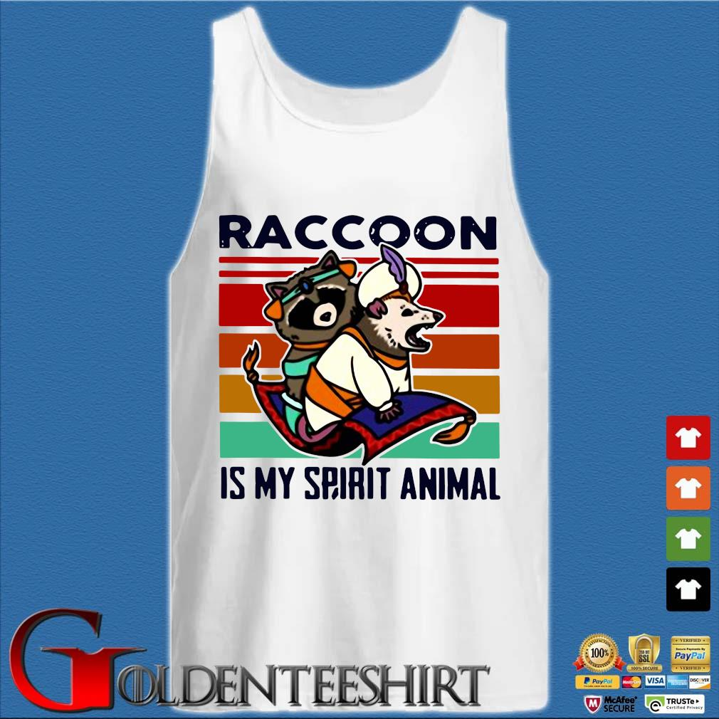 Aladdin Raccoon Is My Spirit Animal Vintage Shirt Tank top trắng