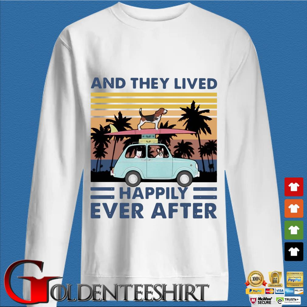 And They Lived Happily Ever After Dog Vintage Shirt trang Sweater