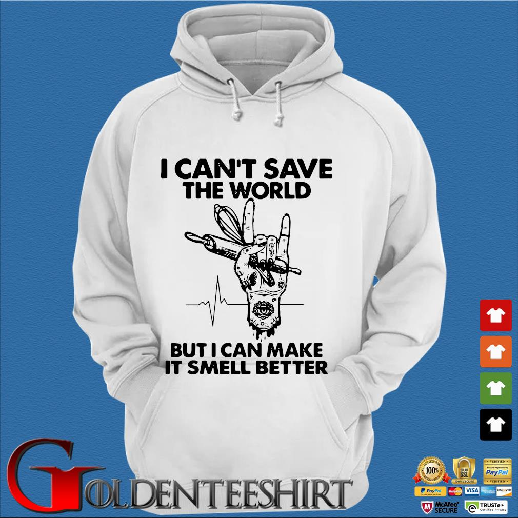 Baker I Cant Save The World But I Can Make It Smell Better Heartbeat Shirt Trang Hoodie