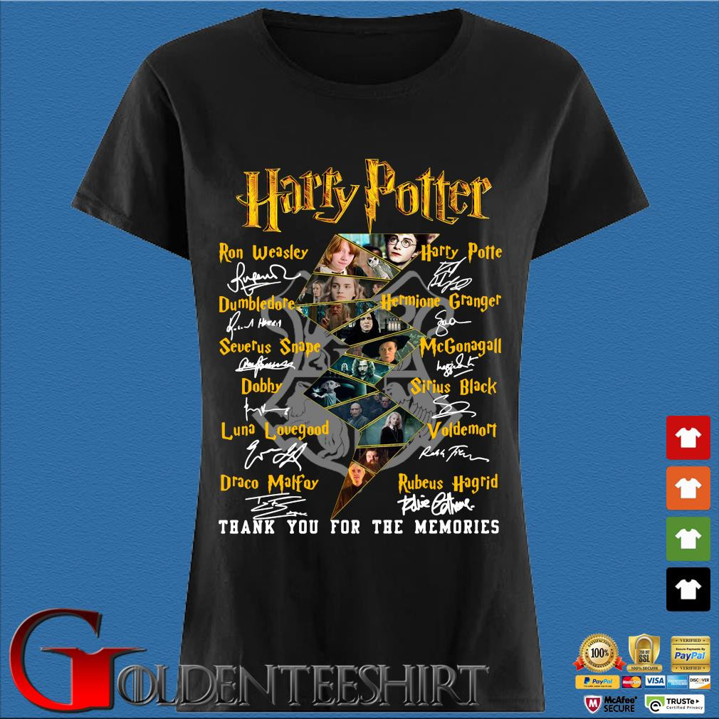 Harry Potter Characters Thank You For The Memories Signature Shirt Den Ladies