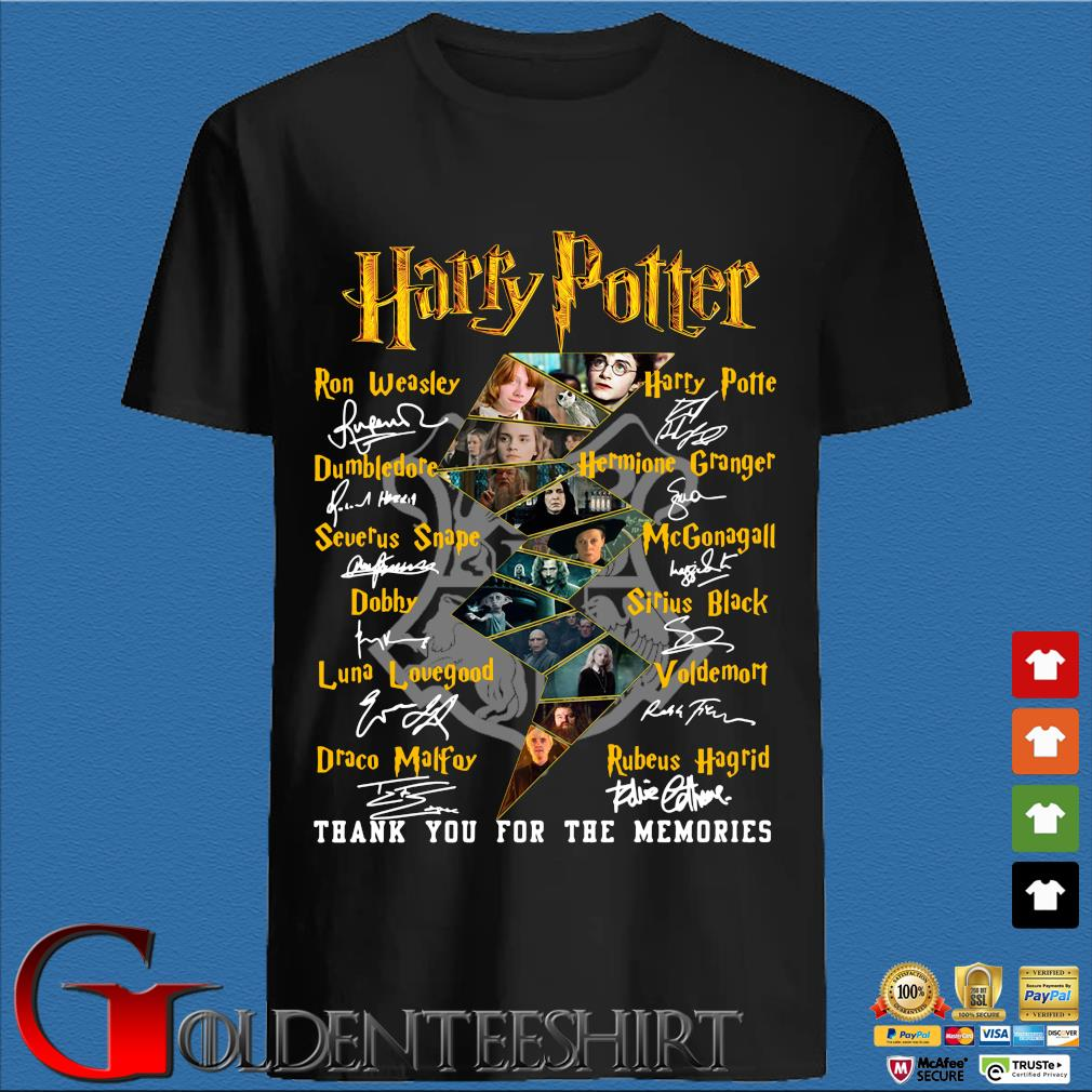 Harry Potter Characters Thank You For The Memories Signature Shirt