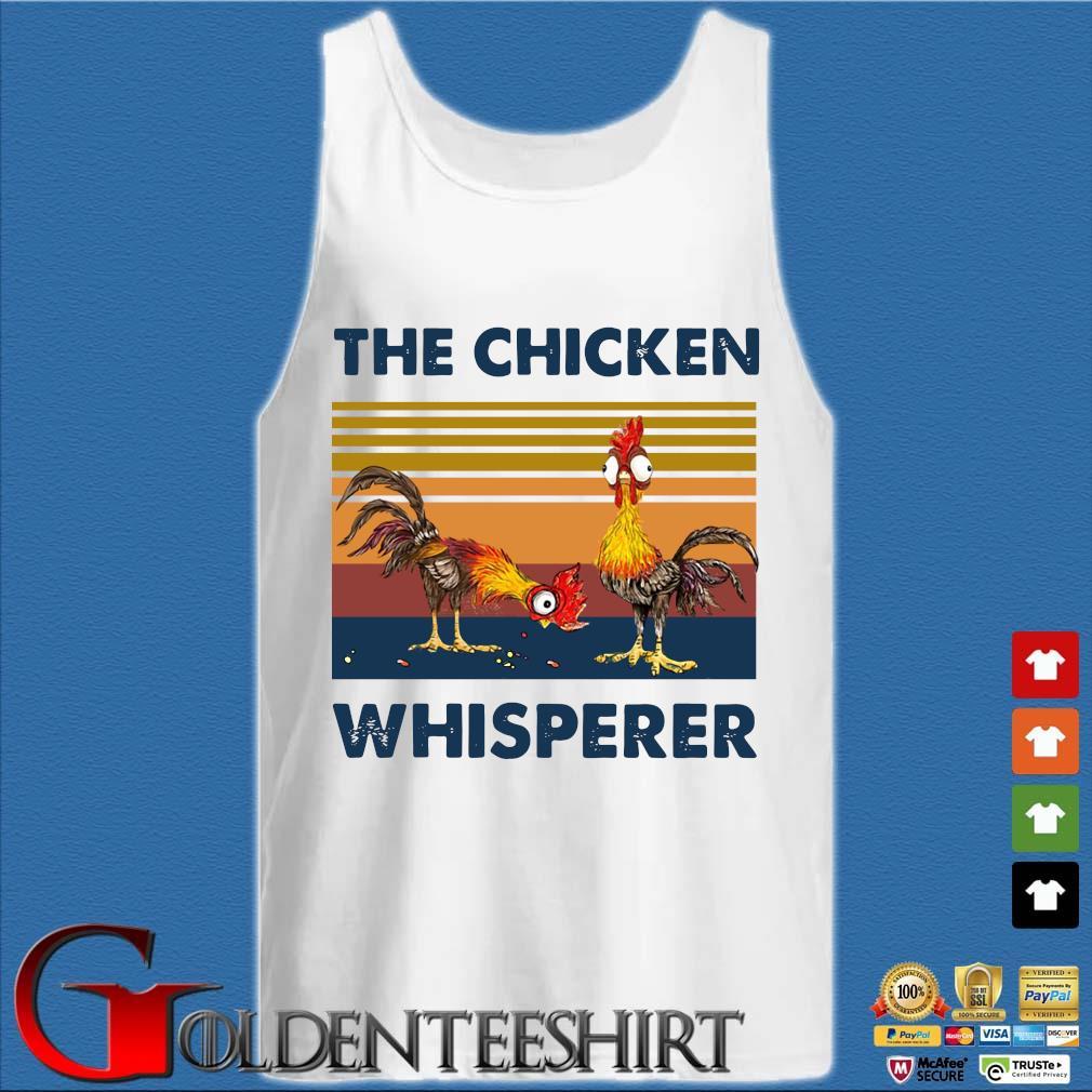 Hei Hei The Chicken Whisperer Vintage Shirt Tank top trắng