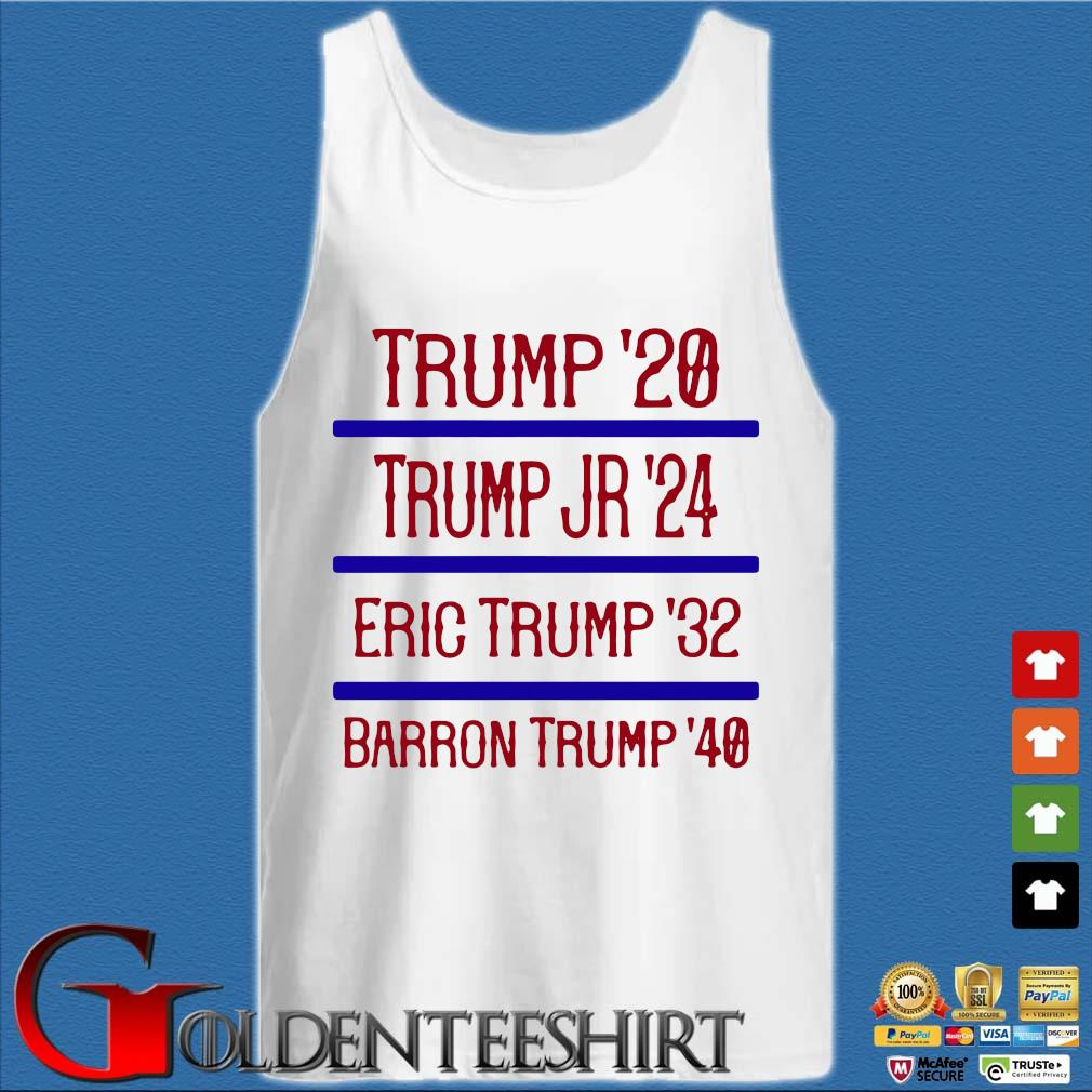 Trump'20 Trump Jr'24 Eric Trump'32 Barron Trump'40 Shirt Tank top trắng