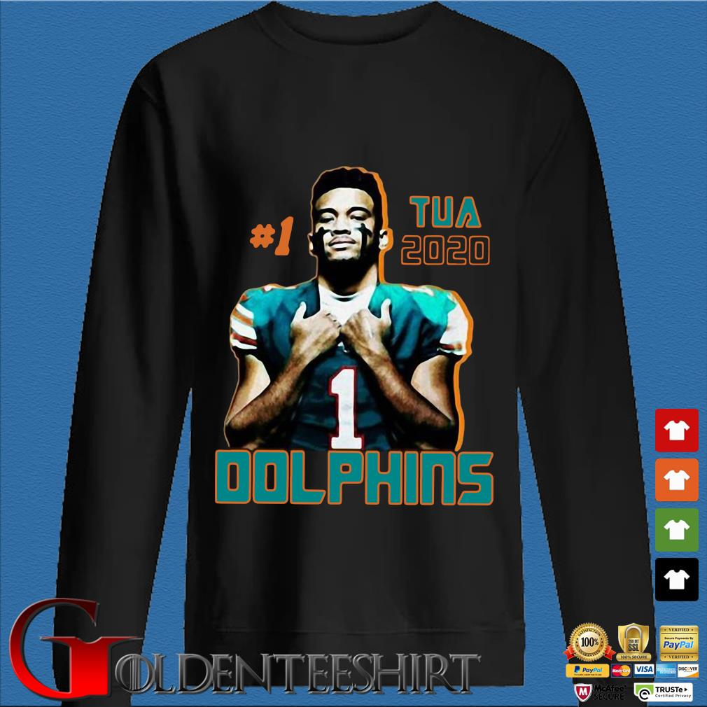 1 tua tagovailoa 2020 Miami Dolphins football s Den Sweater