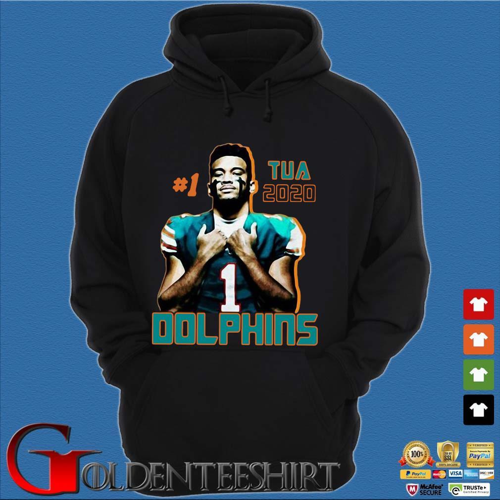 1 tua tagovailoa 2020 Miami Dolphins football s Hoodie đen