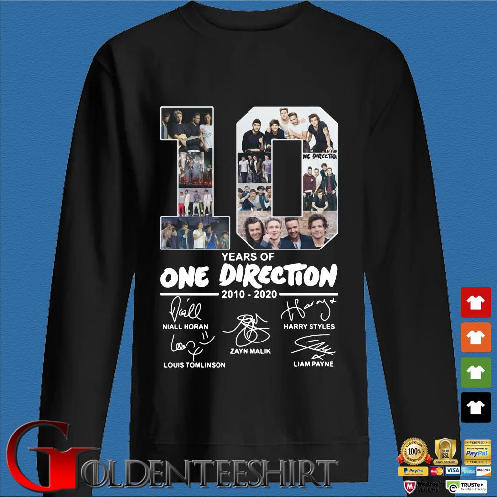 10 Years Of One Direction 2010 2020 Signatures Shirt Den Sweater