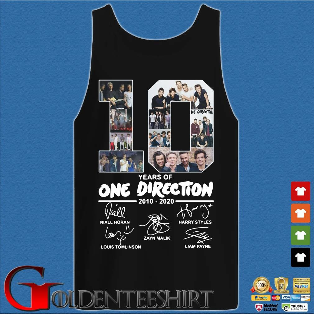 10 Years Of One Direction 2010 2020 Signatures Shirt Tank top den
