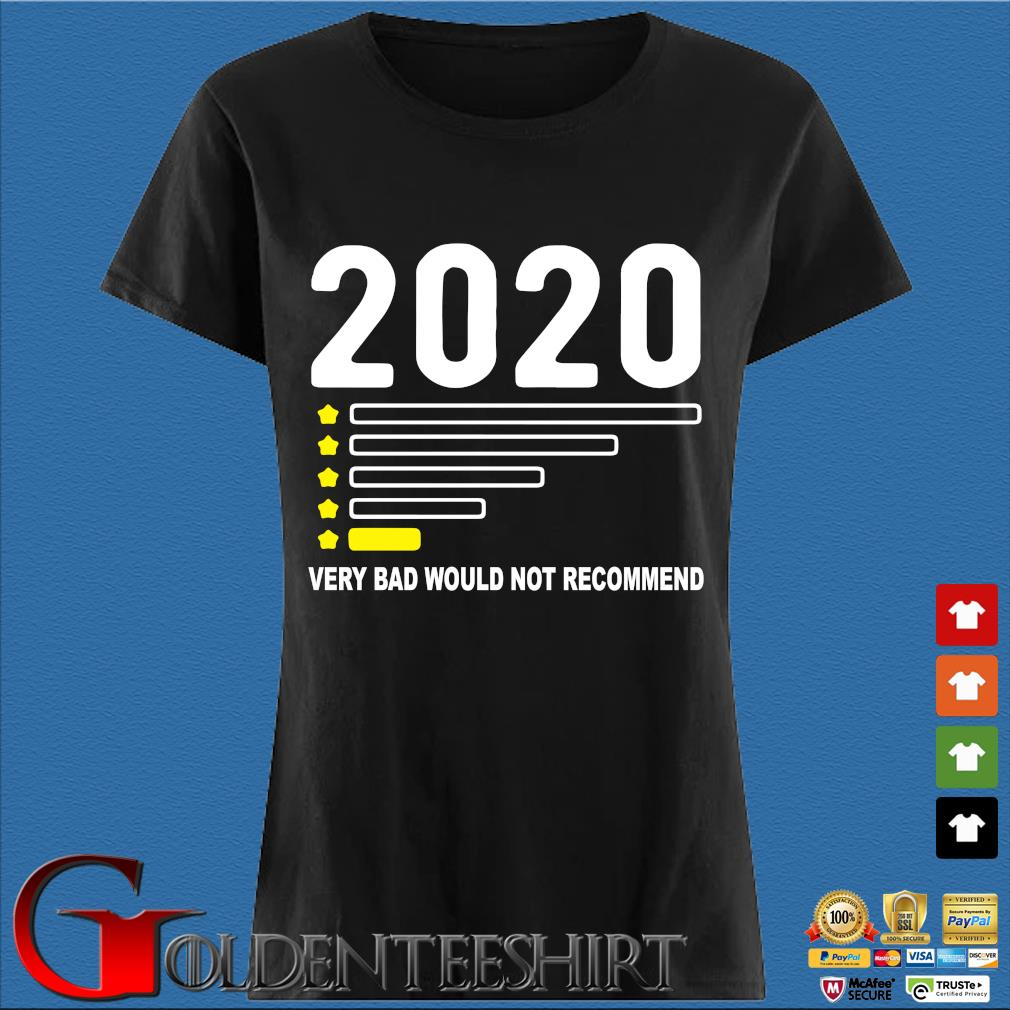 2020 Very Bad Would Not Recommend Shirt Den Ladies