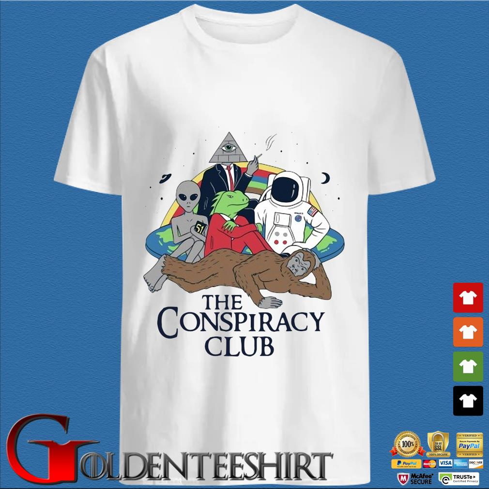 Alien Bigfoot Astronaut The Conspiracy Club Shirt