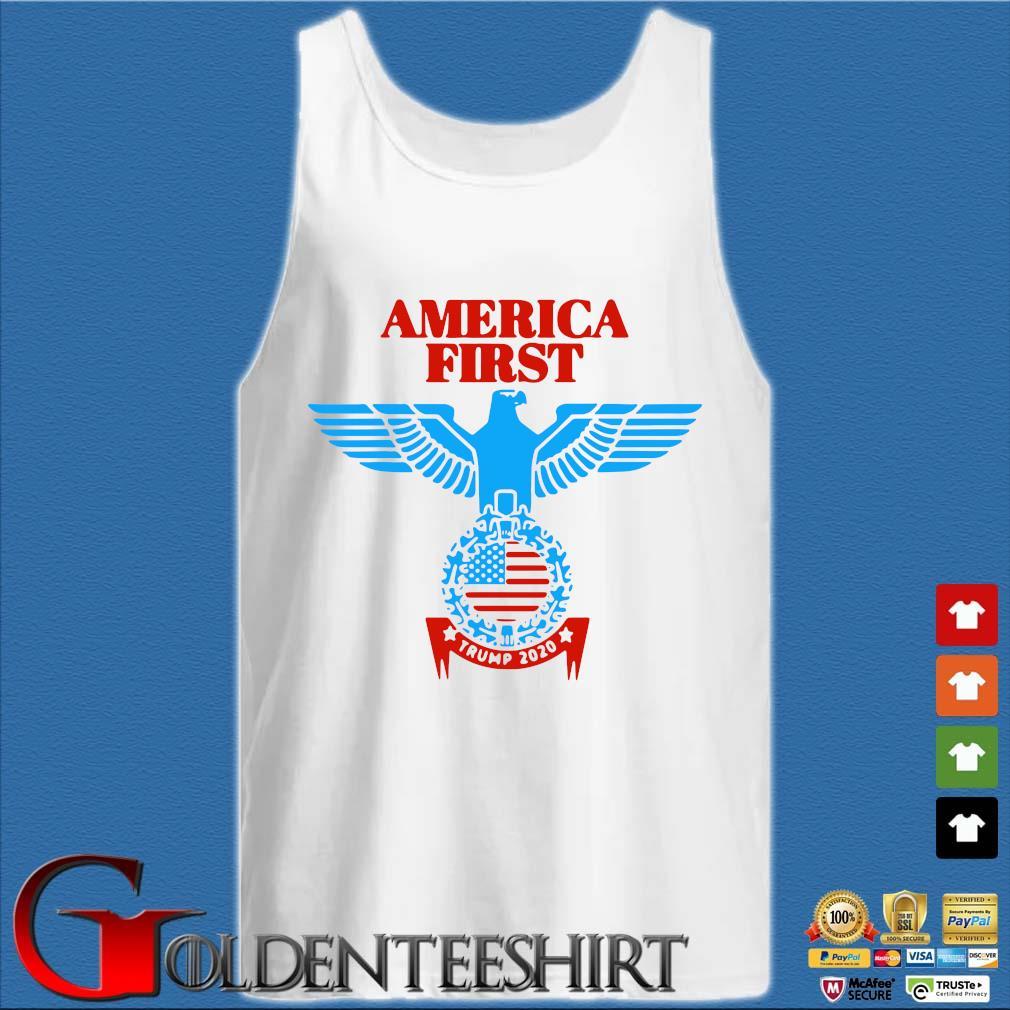 America First Trump 2020 Shirt Tank top trắng