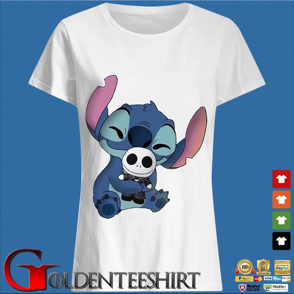 Baby Stitch Hug Baby Jack Skeleton Shirt Trang Ladies