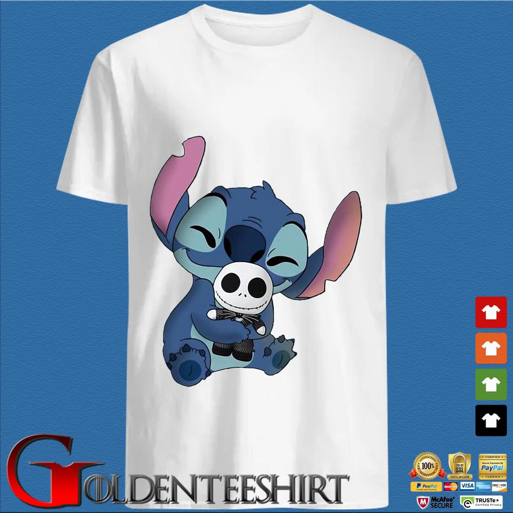 Baby Stitch Hug Baby Jack Skeleton Shirt