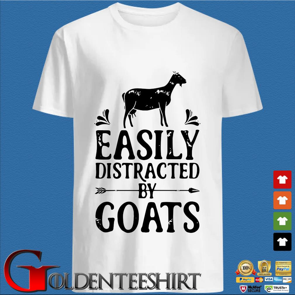 Easily Distracted By Goats Tee Shirt