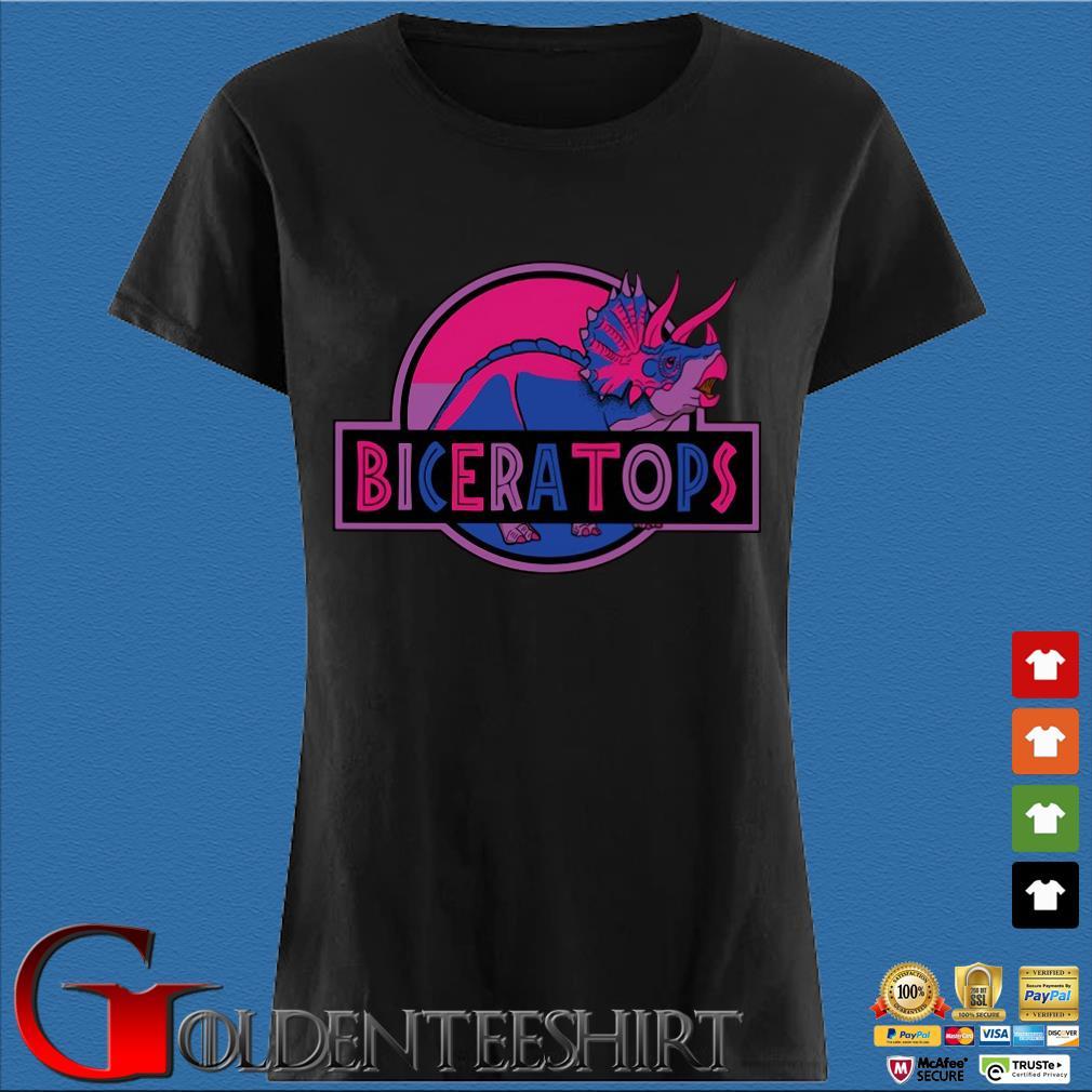 LGBT Biceratops triceratops Shirt Den Ladies