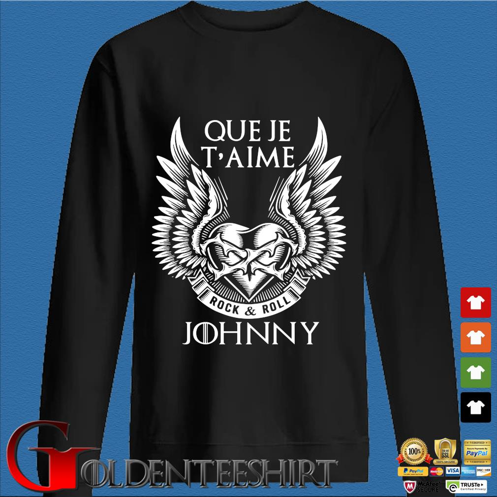 Que Je T'aime Rock And Roll Johnny Shirt Den Sweater