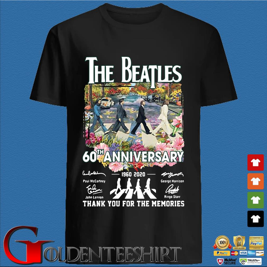 The Beatles 60th Anniversary 1960-2020 Thank You For The Memories Signatures Shirts