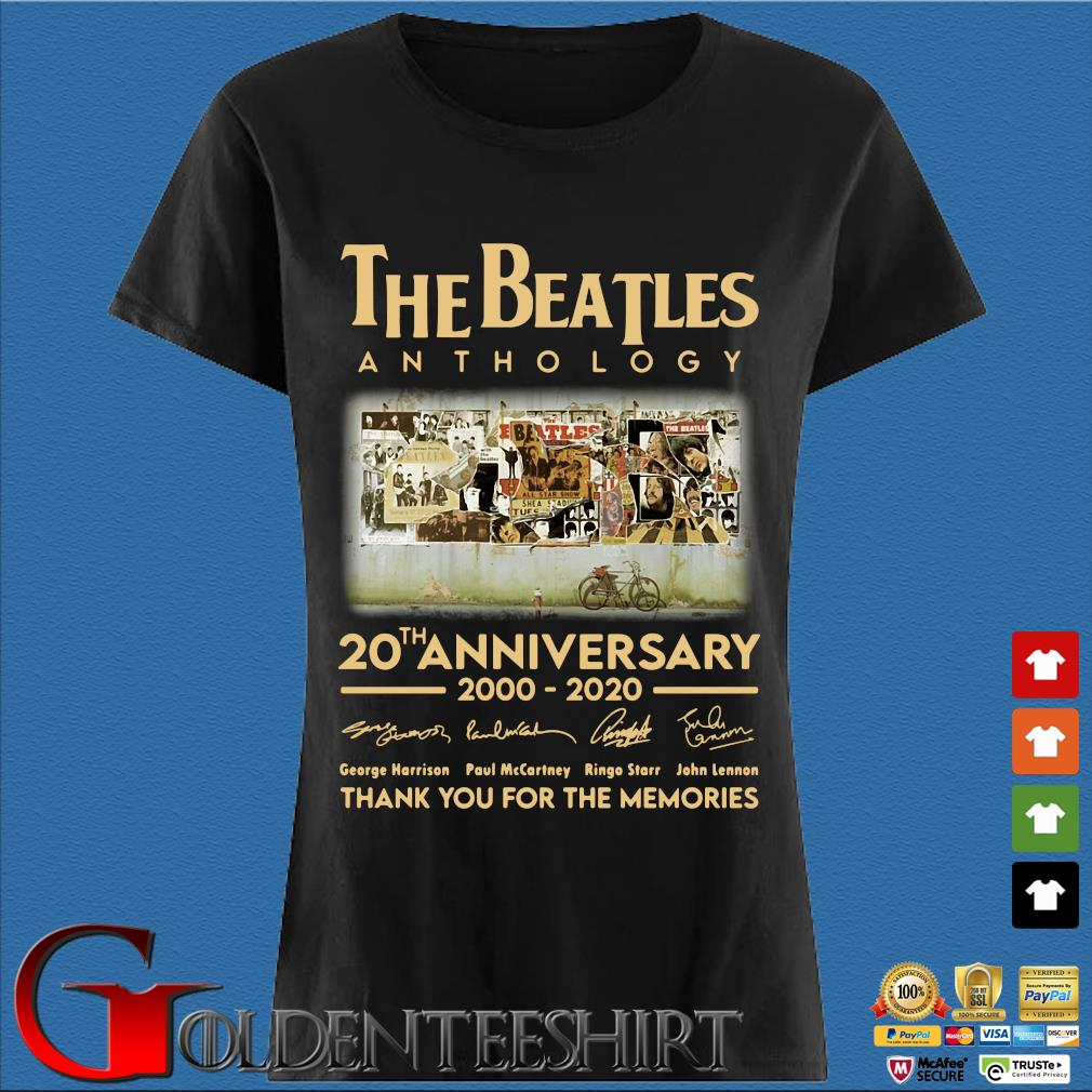 The Beatles Anthology 20th Anniversary 2000 2020 Thank You For The Memories Signatures Shirt Den Ladies