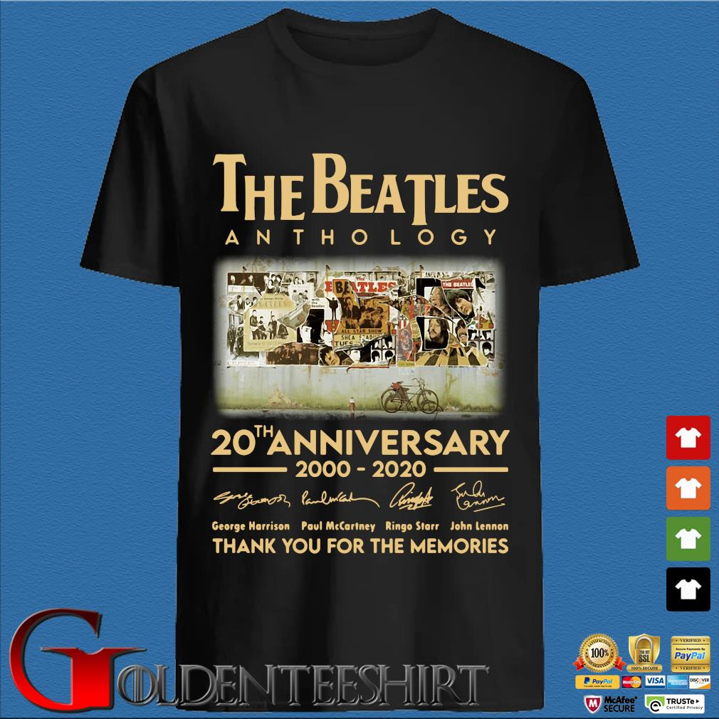 The Beatles Anthology 20th Anniversary 2000 2020 Thank You For The Memories Signatures Shirt