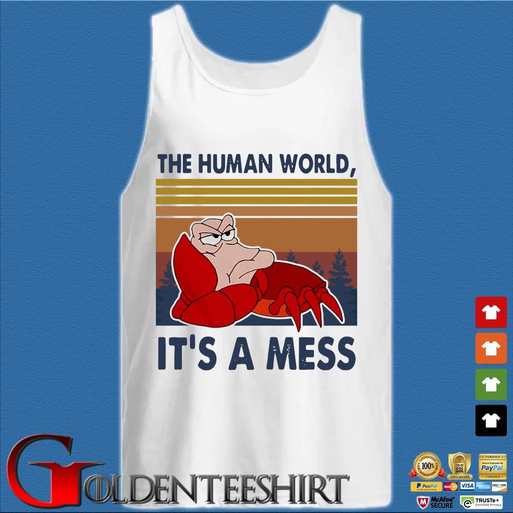 The human world it's a mess vintage s Tank top trắng