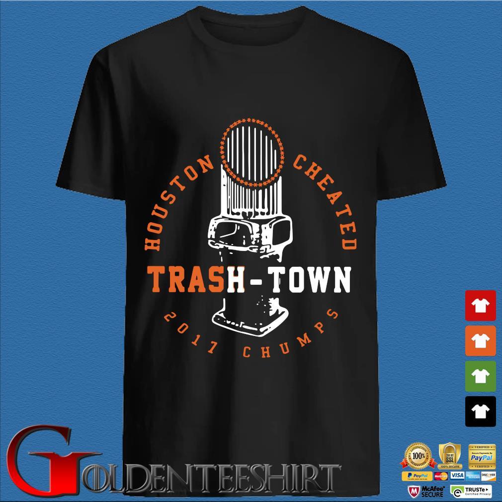 Trevor Bauer Houston Cheated Trash Town Tee Shirt