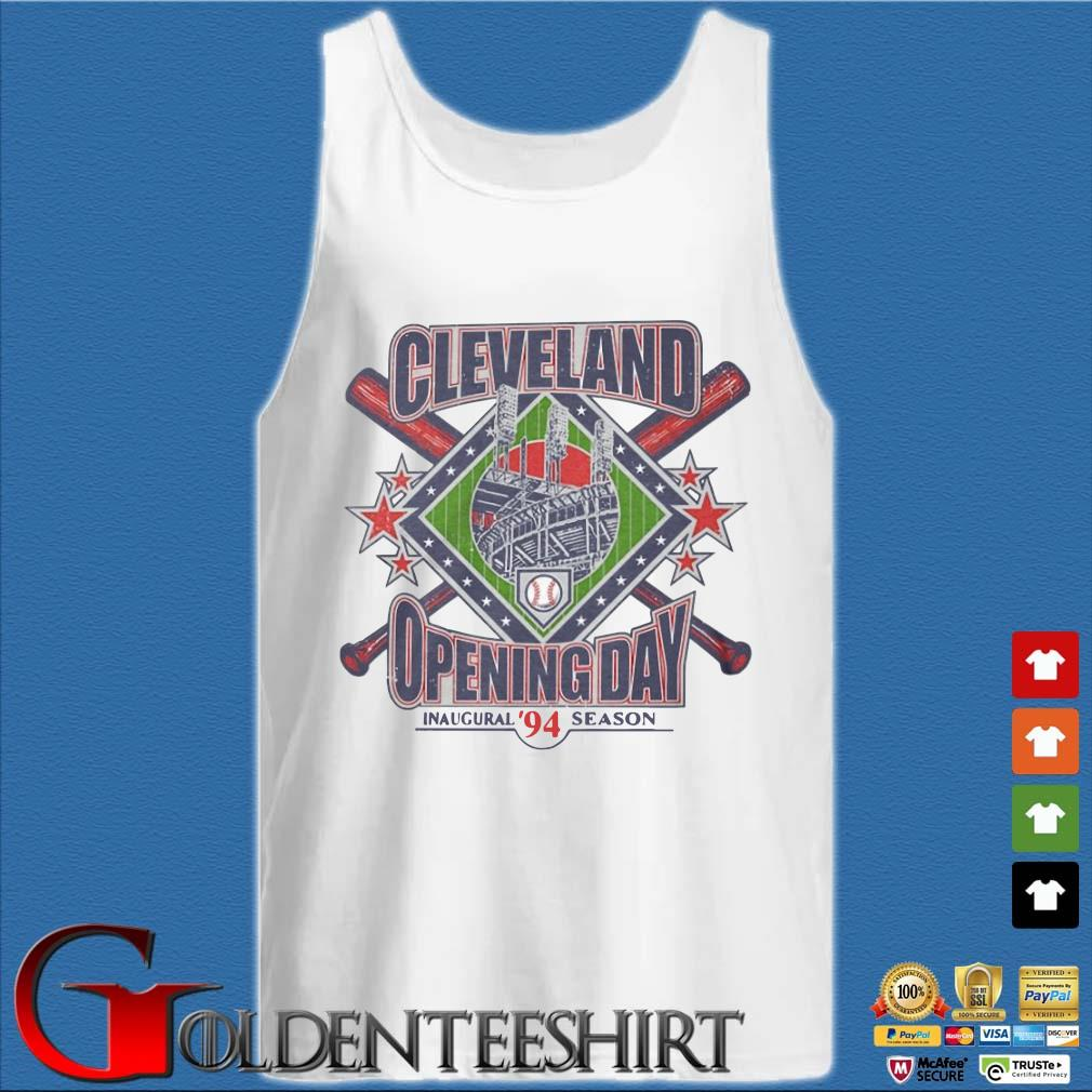 Vintage 1994 Cleveland Opening Day Inaugural 94 Season Shirt Tank top trắng
