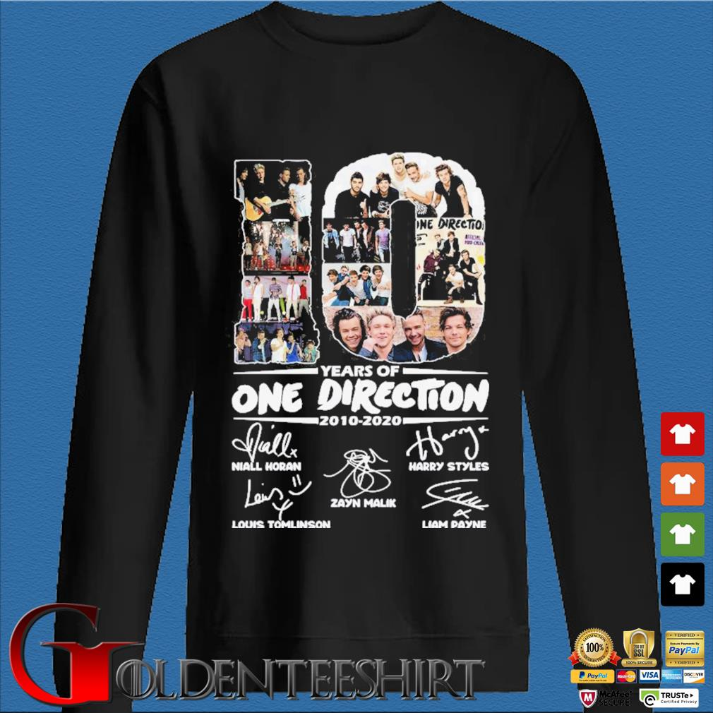 10 Years Of One Direction 2010-2020 Signatures Shirt Den Sweater