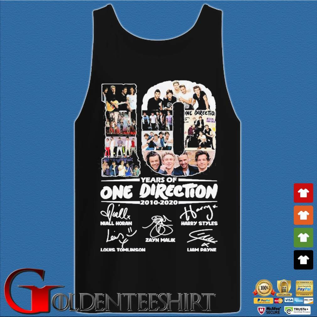 10 Years Of One Direction 2010-2020 Signatures Shirt Tank top den