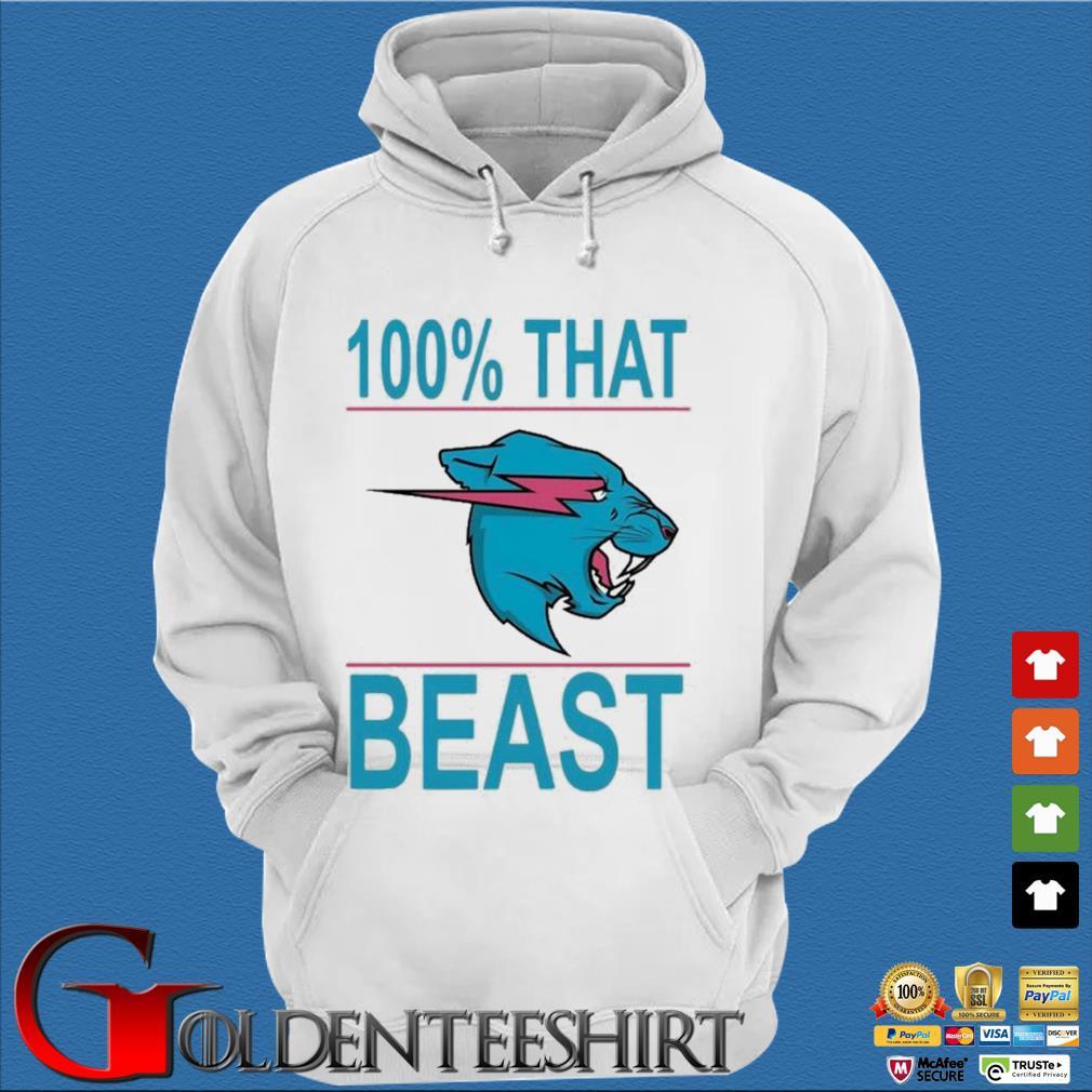 100% That Beast Mr Beast Shirt Trang Hoodie