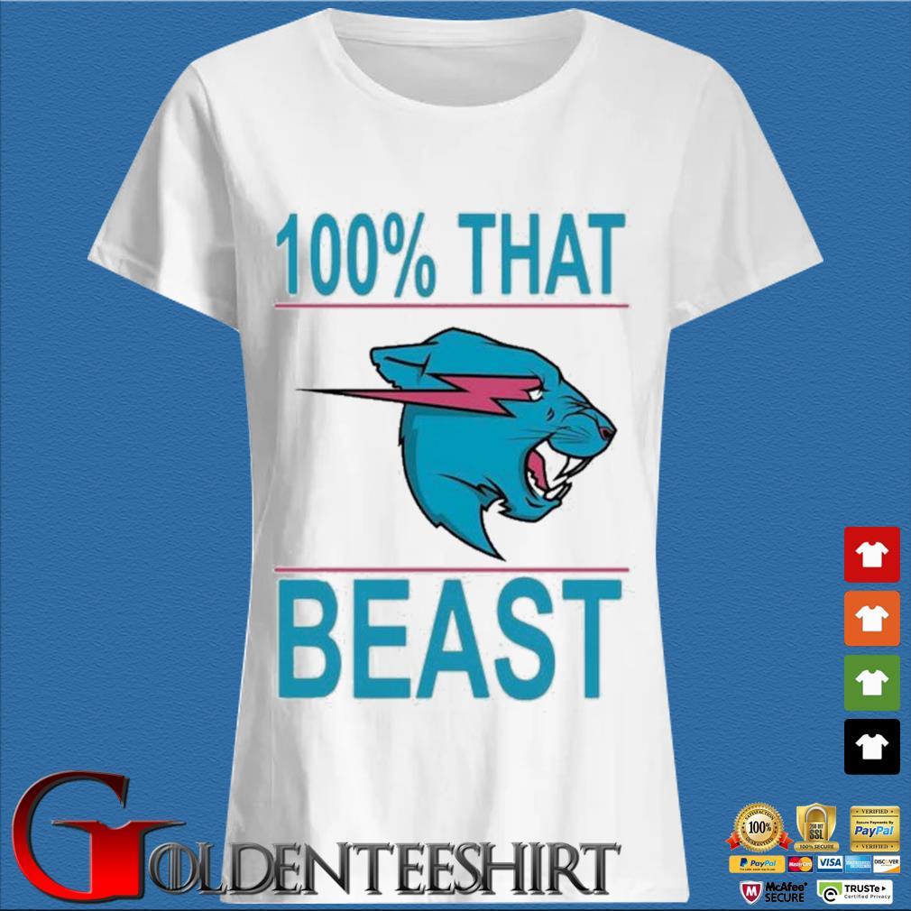 100% That Beast Mr Beast Shirt Trang Ladies