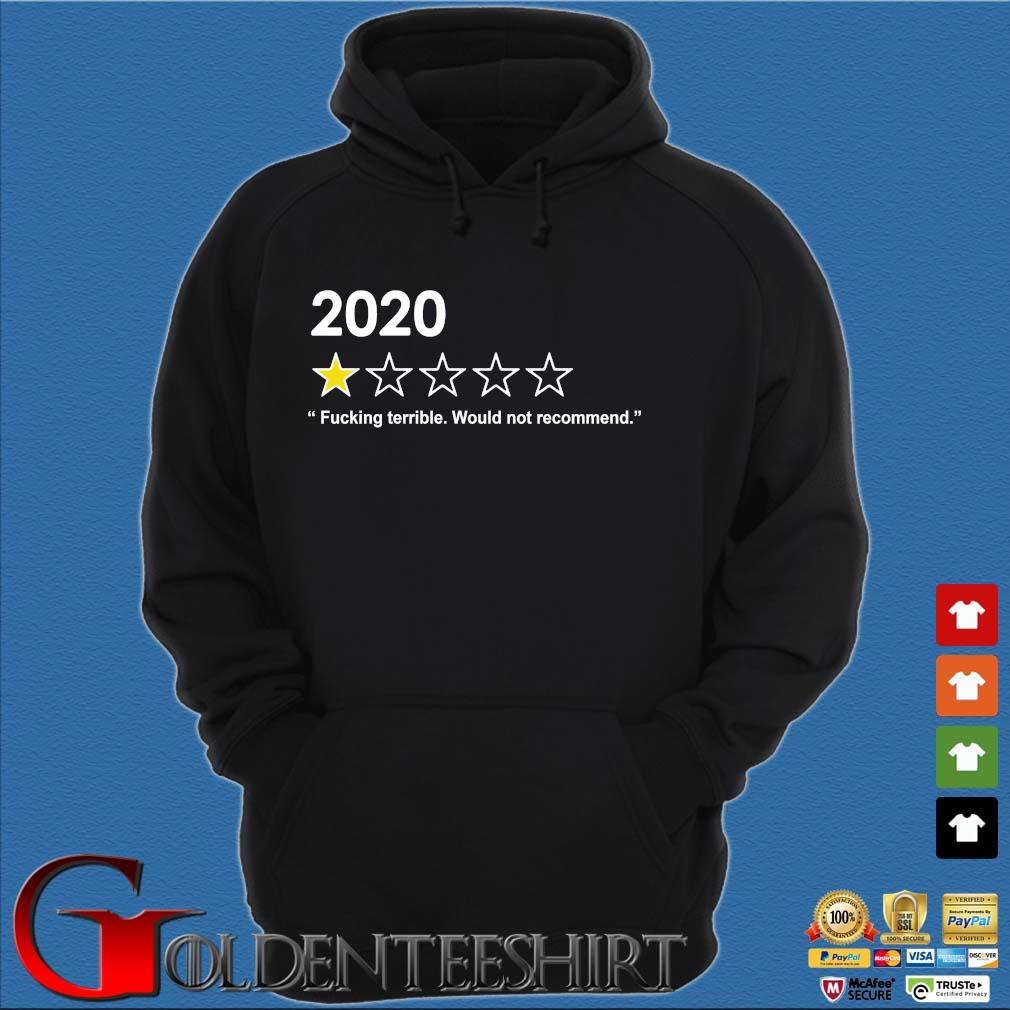 2020 fucking terrible would not recommend s Hoodie đen