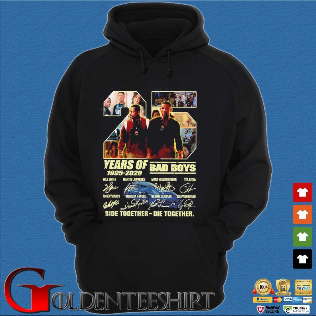 25 Years of 1995-2020 Bad Boys ride together die together signatures s Hoodie đen