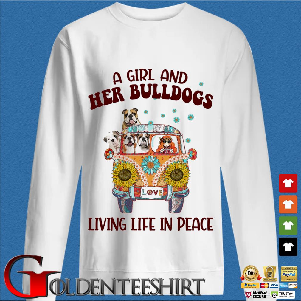 A Girl and Her Bulldogs living life in peace s trang Sweater