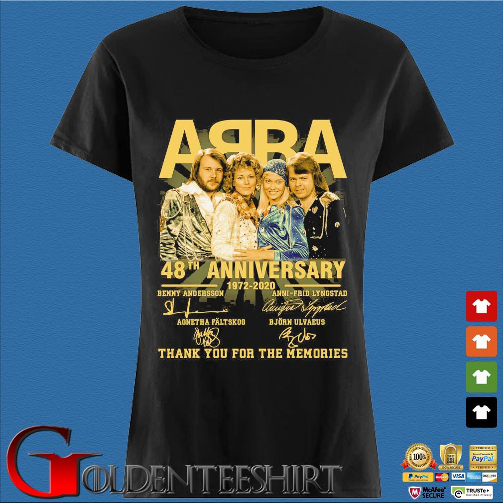 ABBA 48th anniversary 1972 2020 thank you for the memories signatures s Den Ladies