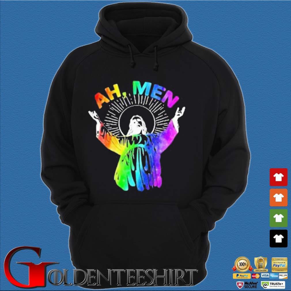 Ah Me'n Gay Pride Jesus LGBT Shirt Hoodie đen