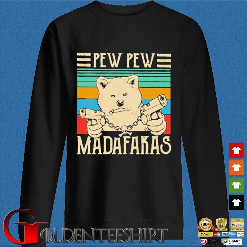Akita Inu Pew Pew Madafakas Vintage Shirt Den Sweater