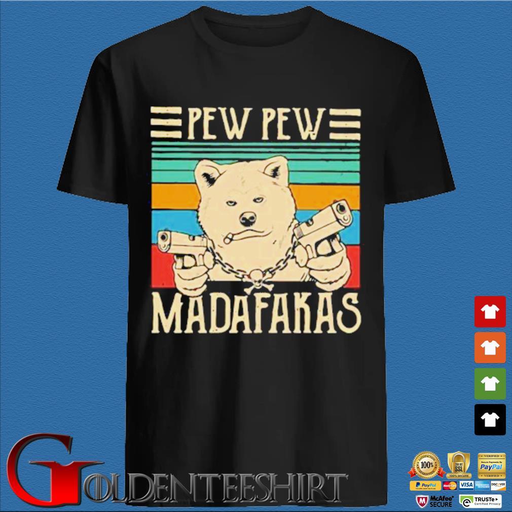 Akita Inu Pew Pew Madafakas Vintage Shirt