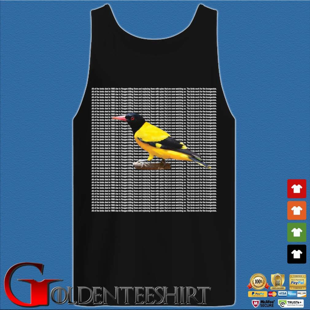 All of the birds died in 1986 s Tank top den