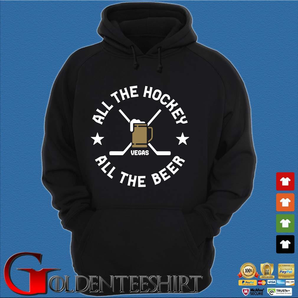 All the hockey all the beer Las Vegas s Hoodie đen