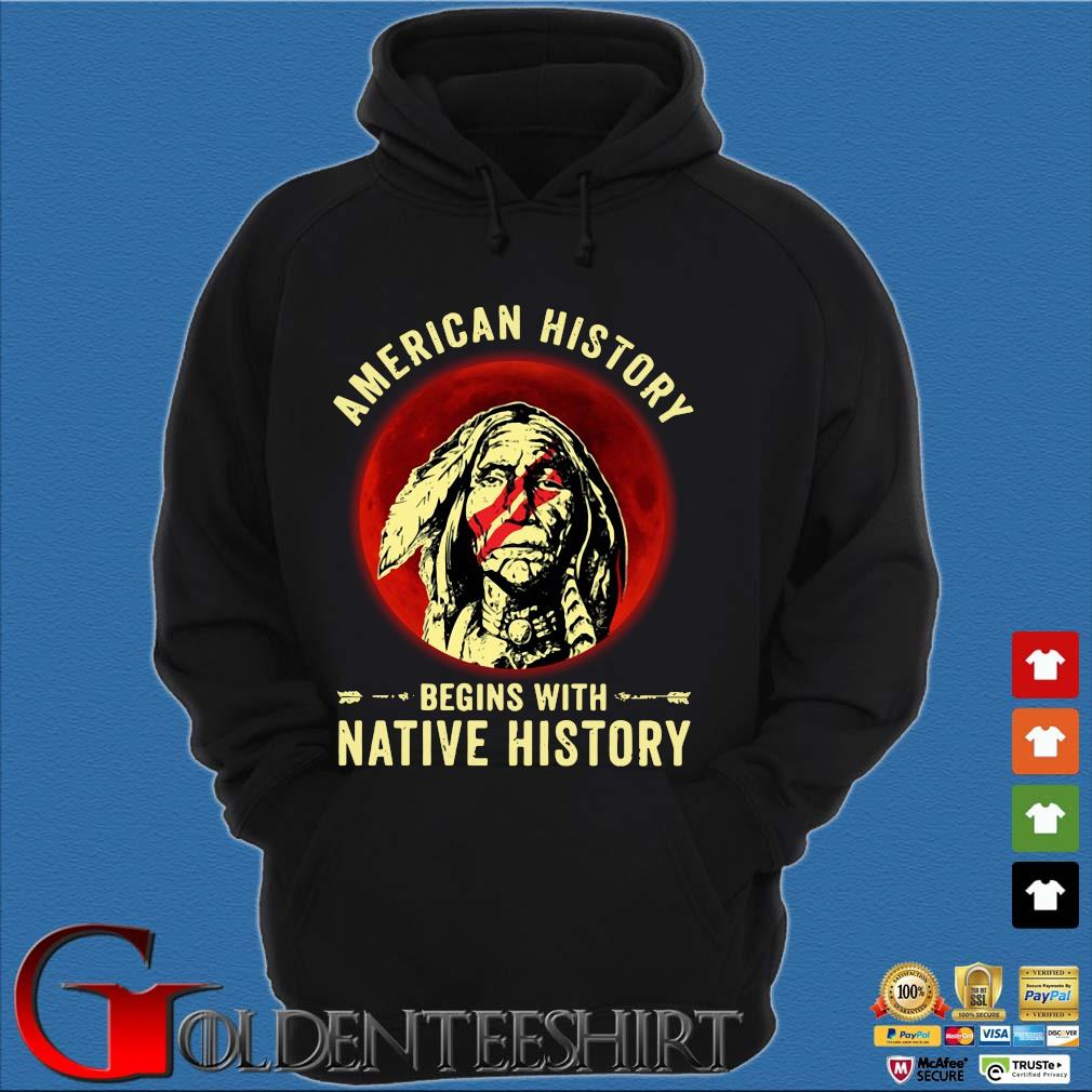 American history begins with native history moon s Hoodie đen
