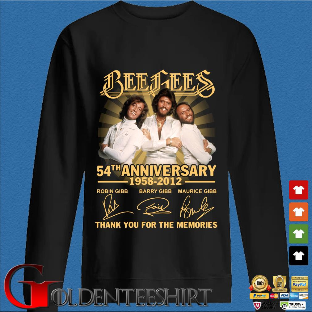 Bee gees 54th anniversary 1958 2012 thank you for the memories signatures s Den Sweater
