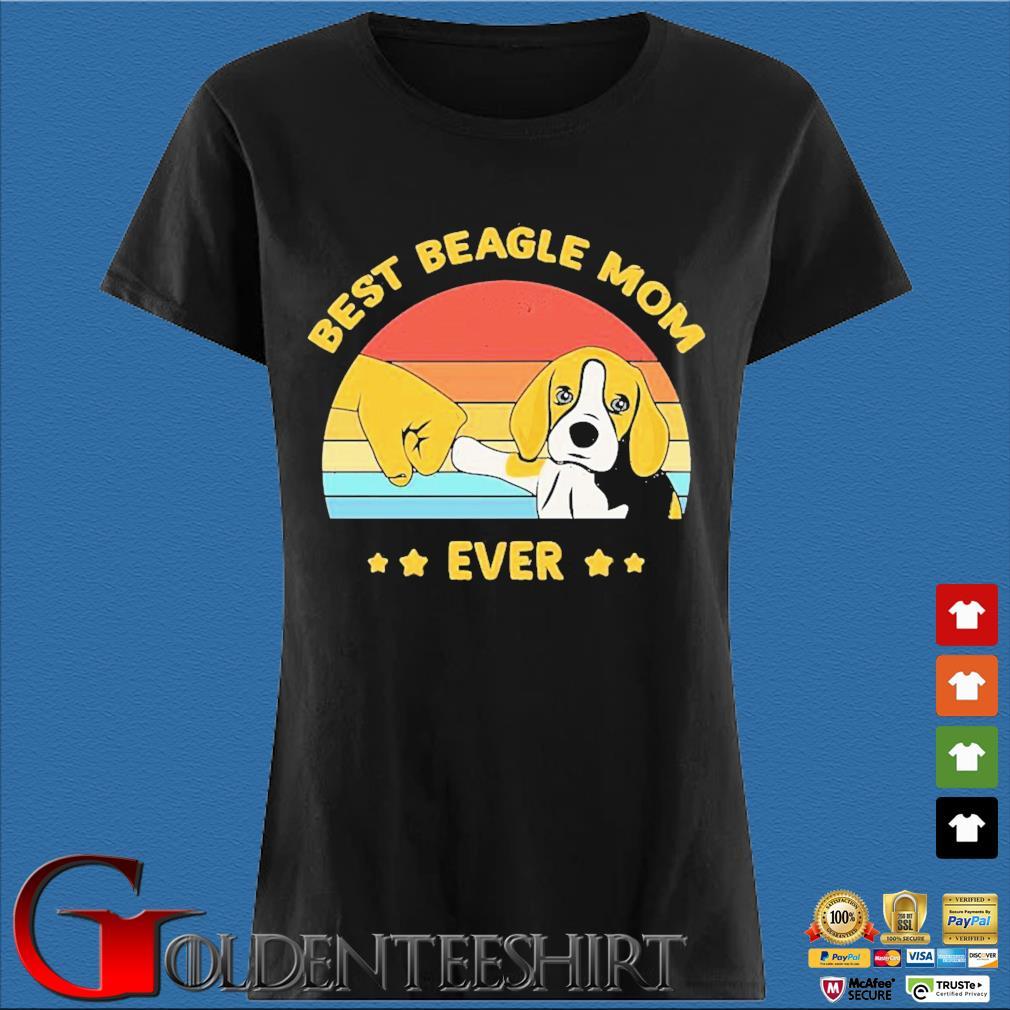 Best Beagle Mom ever vintage s Den Ladies