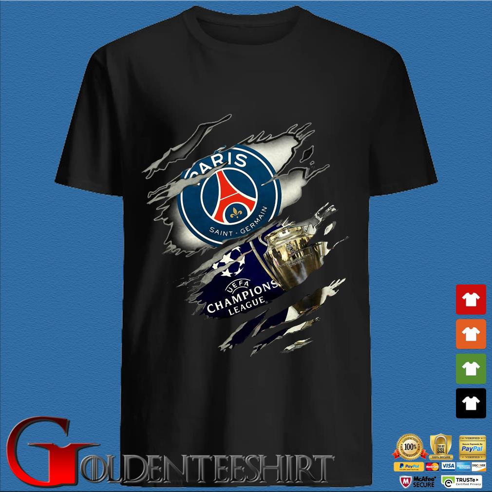 Blood Inside me Paris Saint Germain UEFA Champions League shirt