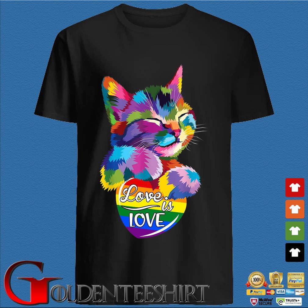 Cat LGBT love is love shirt