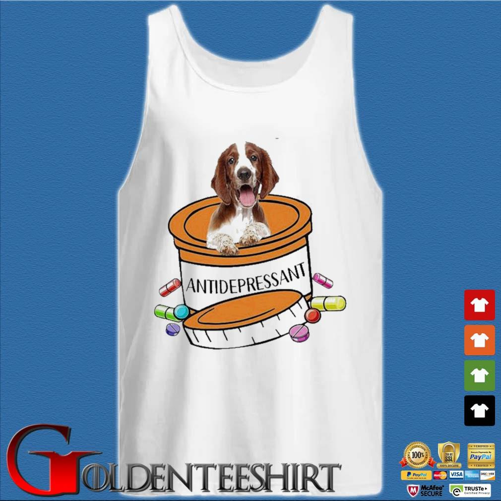 Dog Welsh Springer Spaniel Antidepressant Shirt Tank top trắng
