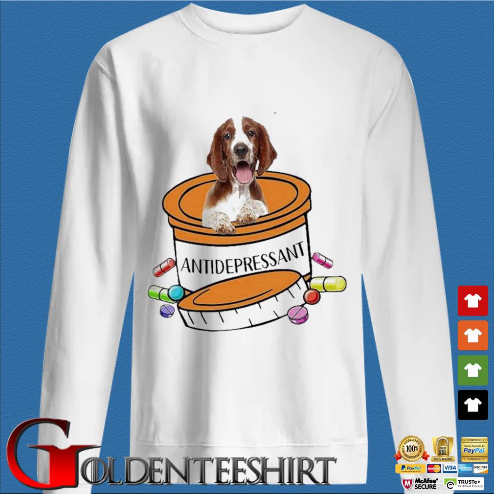 Dog Welsh Springer Spaniel Antidepressant Shirt trang Sweater